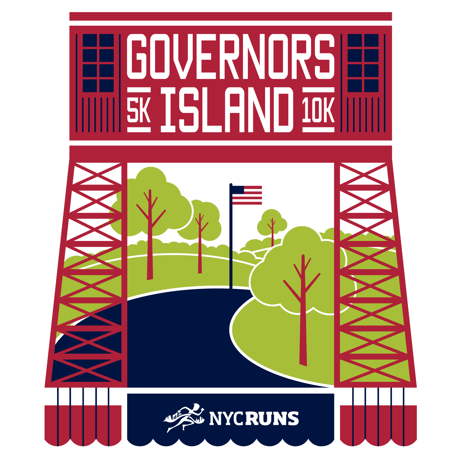 NYCRUNS Governors Island K  K New York NY  ACTIVE - Map us governors